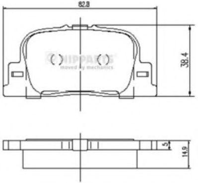 Комплект тормозных колодок  арт. J3612032