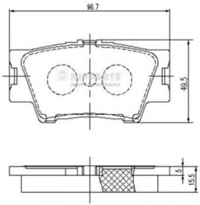 Тормозные колодки дисковые NIPPARTS J3612035