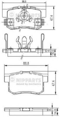Тормозные колодки, к-кт.  арт. J3614017