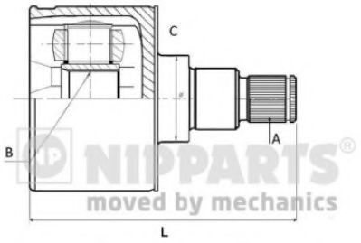 Шарнiр приводного вала  арт. N2830900