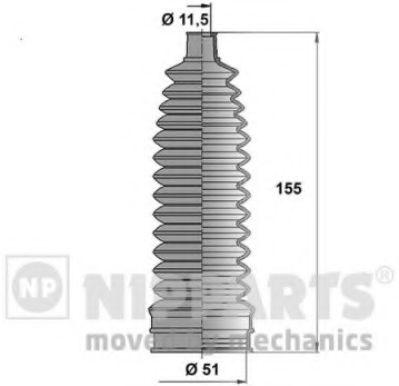 Пыльник рулевой рейки NIPPARTS N2841035