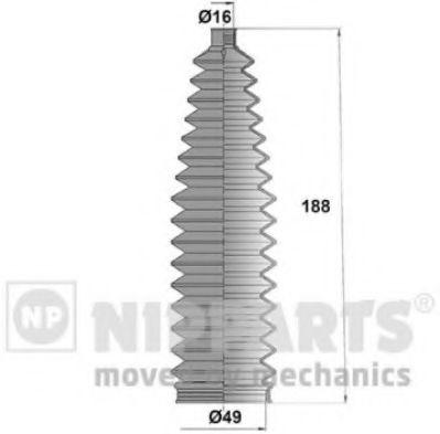 Пыльник рулевой рейки NIPPARTS N2842047