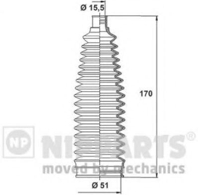 Пыльник рулевой рейки NIPPARTS N2843024