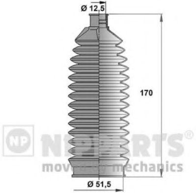 Пыльник рулевой рейки NIPPARTS N2844010