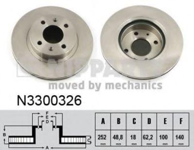 Тормозной диск  арт. N3300326