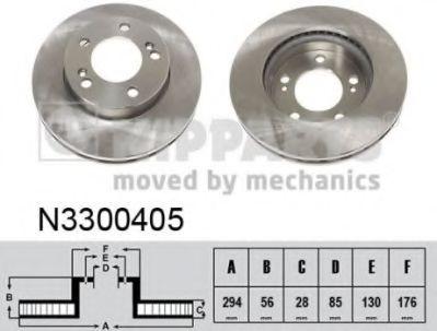 Гальмiвний диск NIPPARTS N3300405