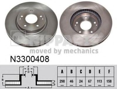 Гальмiвний диск NIPPARTS N3300408