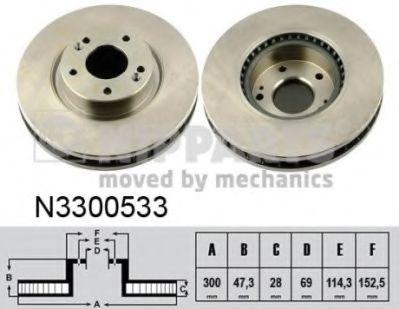Тормозной диск  арт. N3300533