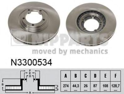 Тормозной диск  арт. N3300534