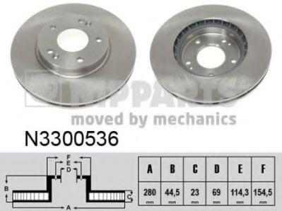 Тормозной диск  арт. N3300536