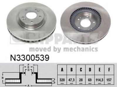Тормозной диск  арт. N3300539
