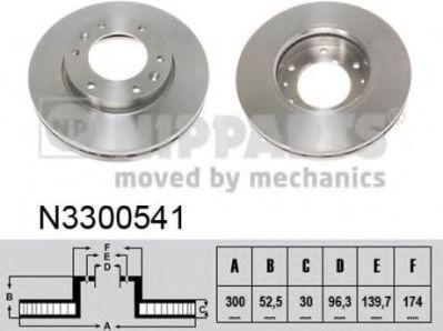 Тормозной диск NIPPARTS N3300541