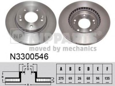Гальмiвний диск NIPPARTS N3300546