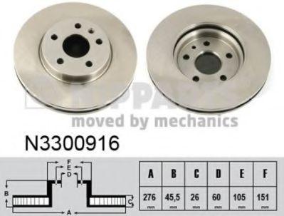 Тормозной диск NIPPARTS N3300916