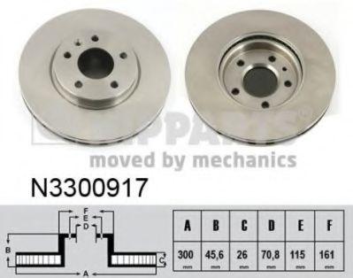 Тормозной диск  арт. N3300917