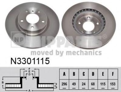 Гальмiвний диск NIPPARTS N3301115