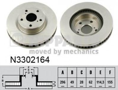 Тормозной диск NIPPARTS N3302164