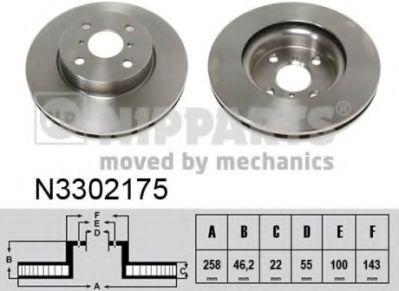 Тормозной диск  арт. N3302175