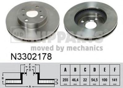 Тормозной диск NIPPARTS N3302178