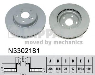Гальмiвний диск NIPPARTS N3302181