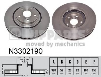 Гальмiвний диск NIPPARTS N3302190
