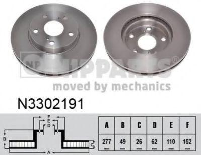 Гальмiвний диск NIPPARTS N3302191