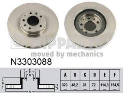 Тормозной диск NIPPARTS N3303088
