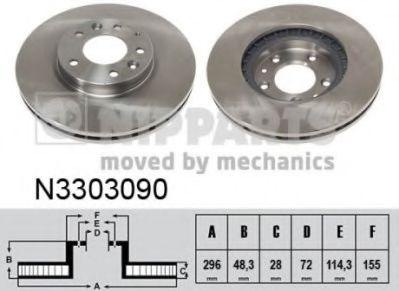 Тормозной диск NIPPARTS N3303090