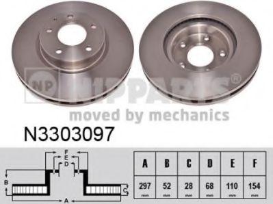 Гальмiвний диск NIPPARTS N3303097
