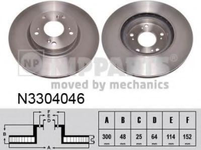 Гальмiвний диск NIPPARTS N3304046