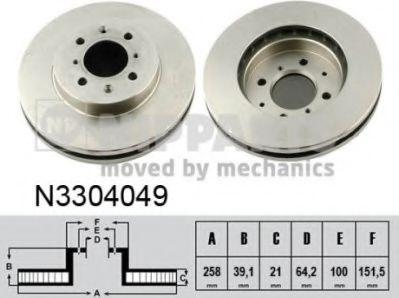 Тормозной диск  арт. N3304049