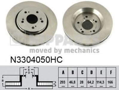 Диск тормозной Honda CR-V 07- (пр-во Nipparts)                                                       NIPPARTS N3304050HC