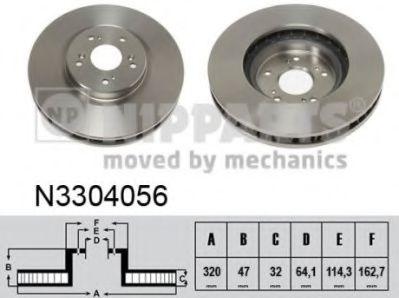 Гальмiвний диск NIPPARTS N3304056