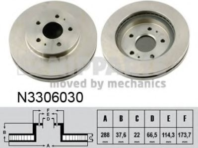 Гальмiвний диск  арт. N3306030