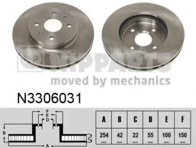 Тормозной диск NIPPARTS N3306031