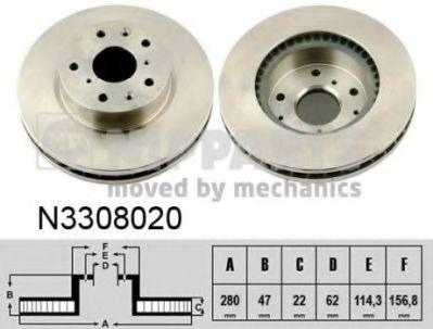 Тормозной диск  арт. N3308020