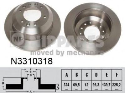 Тормозной диск NIPPARTS N3310318