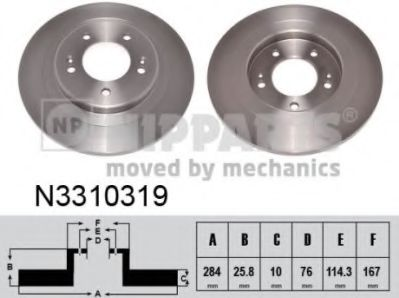 Гальмiвний диск NIPPARTS N3310319