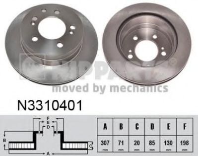 Гальмiвний диск NIPPARTS N3310401
