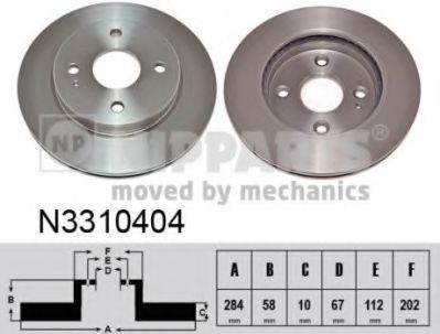Гальмiвний диск NIPPARTS N3310404