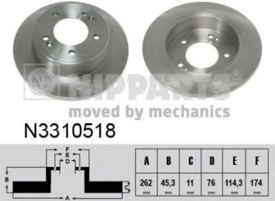 Тормозной диск  арт. N3310518