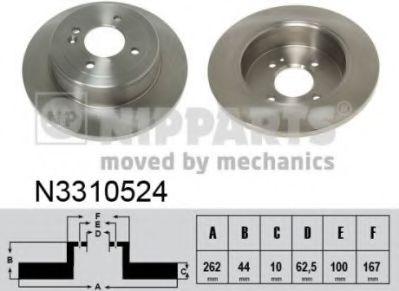 Тормозной диск NIPPARTS N3310524