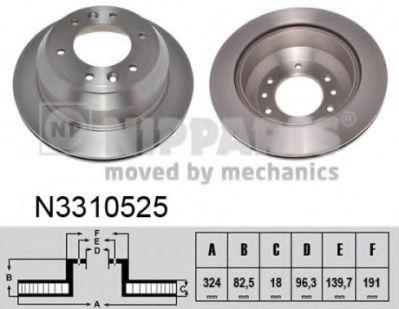 Гальмiвний диск NIPPARTS N3310525