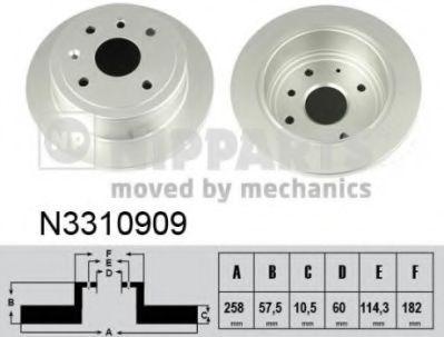 Тормозной диск  арт. N3310909