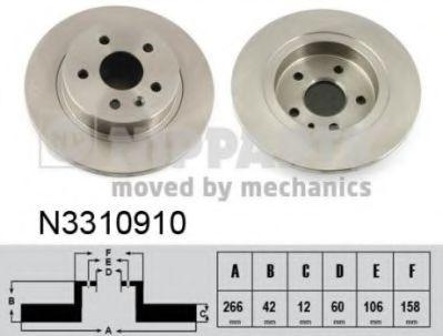 Тормозной диск  арт. N3310910