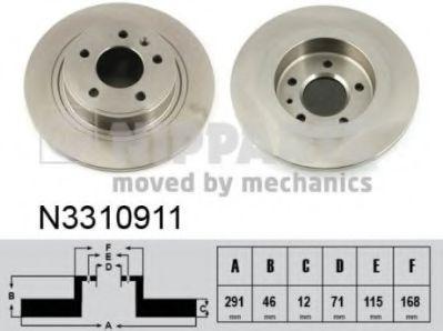Тормозной диск  арт. N3310911