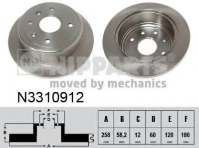 Тормозной диск NIPPARTS N3310912