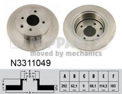 Тормозной диск NIPPARTS N3311049
