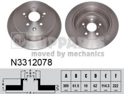 Гальмiвний диск NIPPARTS N3312078