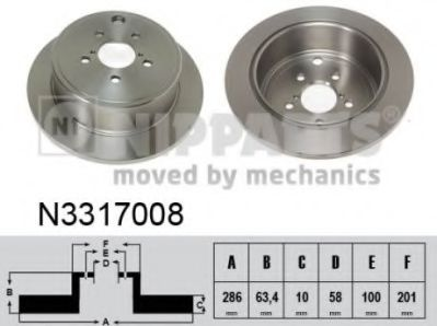 Тормозной диск NIPPARTS N3317008